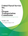 United Parcel Service Inc V Oregon Transportation Commission