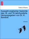 Auswahl Englischer Gedichte Des 18 Und 19 Jahrhunderts Herausgegeben Von Dr K Bandow