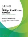 U Hogg V Phillips Real Estate Services