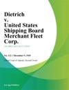 Dietrich V United States Shipping Board Merchant Fleet Corp