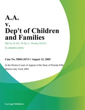 A.A. V. Dept Of Children And Families