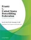 Frantz V United States Powerlifting Federation
