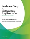 Sunbeam Corp V Golden Rule Appliance Co