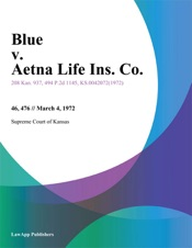 Download and Read Online Blue v. Aetna Life Ins. Co.