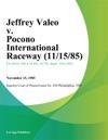 Jeffrey Valeo V Pocono International Raceway