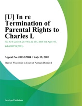 [U] In Re Termination Of Parental Rights To Charles L.