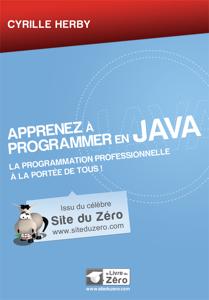 Apprenez à programmer en Java Couverture de livre