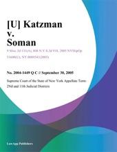 Katzman V. Soman