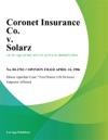 Coronet Insurance Co V Solarz