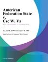 American Federation State V Csc W Va