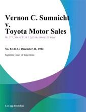 Vernon C. Sumnicht v. Toyota Motor Sales
