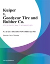 Kuiper V Goodyear Tire And Rubber Co