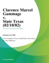 Clarence Marcel Gammage V State Texas