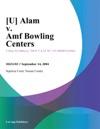 U Alam V Amf Bowling Centers