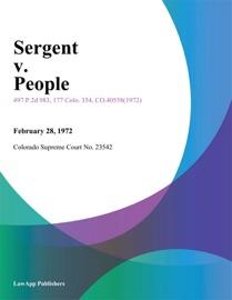 SERGENT V. PEOPLE