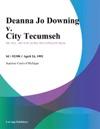 Deanna Jo Downing V City Tecumseh
