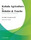 Kohala Agriculture V Deloitte  Touche