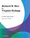 032696 Richard B Rice V Virginia Hodapp
