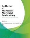 Ledbetter V Warden Of Maryland Penitentiary