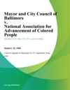 Mayor And City Council Of Baltimore V National Association For Advancement Of Colored People