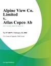 Alpine View Co Limited V Atlas Copco Ab