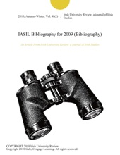 IASIL Bibliography For 2009 (Bibliography)
