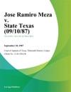 Jose Ramiro Meza V State Texas