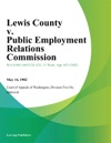 Lewis County V Public Employment Relations Commission