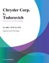 Chrysler Corp V Todorovich