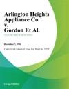 Arlington Heights Appliance Co V Gordon Et Al