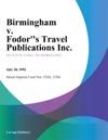 Birmingham V Fodors Travel Publications Inc