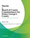 Martin V Board Of County Commissioners For Prince Georges County