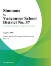 Simmons V Vancouver School District No 37