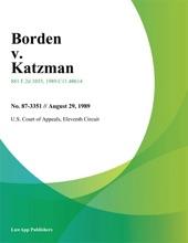 Borden V. Katzman