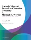 Antonio Viso And Potamkin Chevrolet Company V Michael N Werner