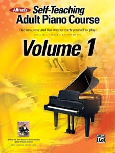 Alfred's Self-Teaching Adult Piano Course, Volume 1 Book Cover