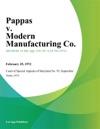 Pappas V Modern Manufacturing Co