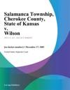 Salamanca Township Cherokee County State Of Kansas V Wilson