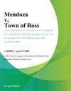 Mendoza V Town Of Ross