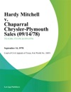 Hardy Mitchell V Chaparral Chrysler-Plymouth Sales