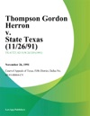 Thompson Gordon Herron V State Texas