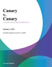 Canary V. Canary