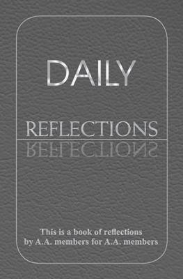 Daily Reflections - AA World Services, Inc. book
