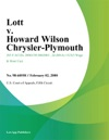 Lott V Howard Wilson Chrysler-Plymouth
