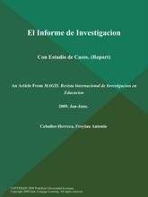 El Informe De Investigacion: Con Estudio De Casos (Report)