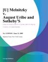Melnitzky V August Uribe And Sothebys