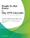 People Ex Rel Power V One 1979 Chevrolet