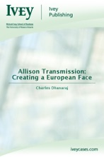 Allison Transmission: Creating a European Face