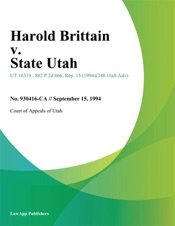 Download Harold Brittain v. State Utah