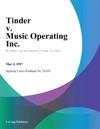 Tinder V Music Operating Inc